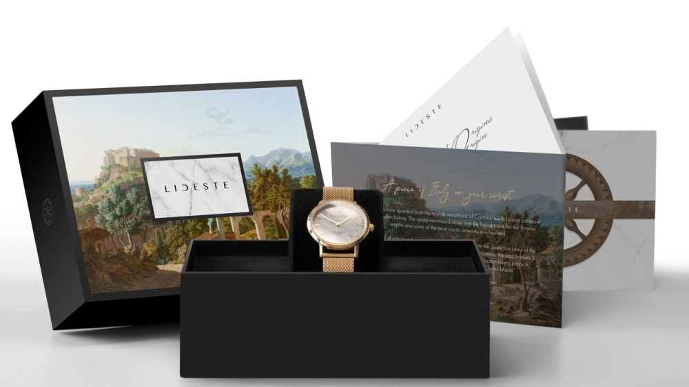 unique-watch-packaging-rose-gold-milanese-mesh-watch